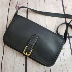 Vintage Coach 1970 RARE Saddle Buckle Crossbody
